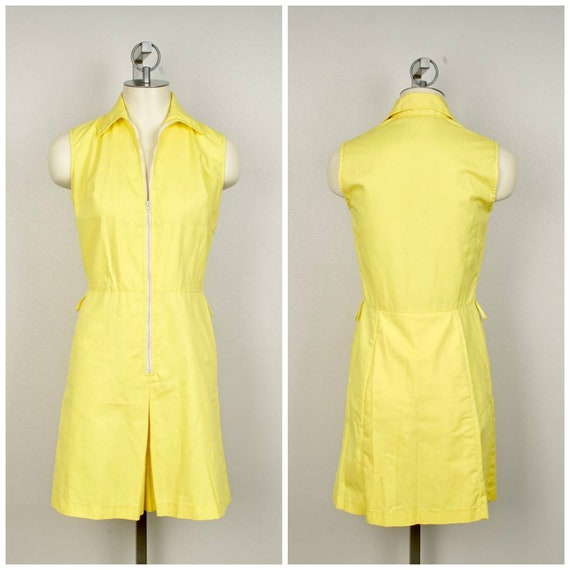 bright yellow knee length skort dress White Stag U