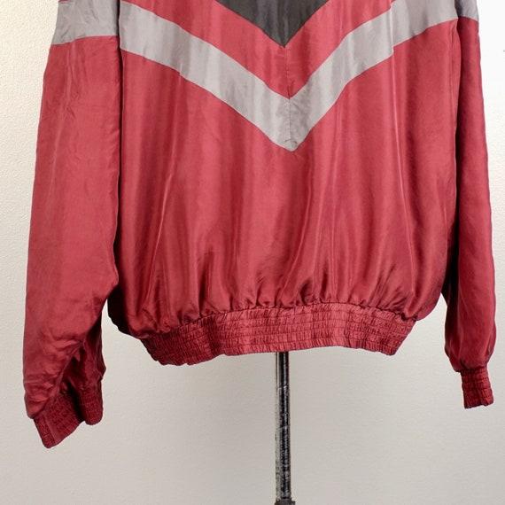 men's 90s vintage silk bomber jacket 2XL Personal… - image 5