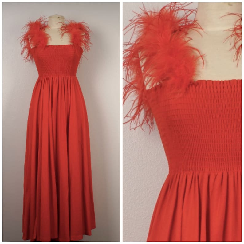 f10c682163 Red tube top maxi dress small to medium Climax David Howard