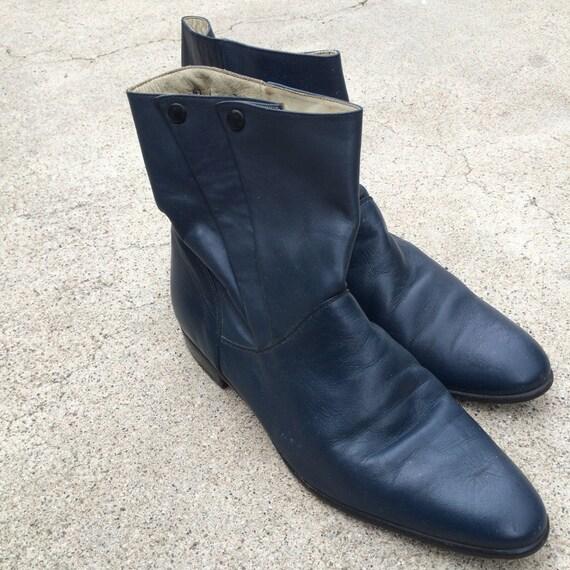 Leather 60s 70s Vintage Hippopotamus Beatle Boots Men 7 5 Etsy