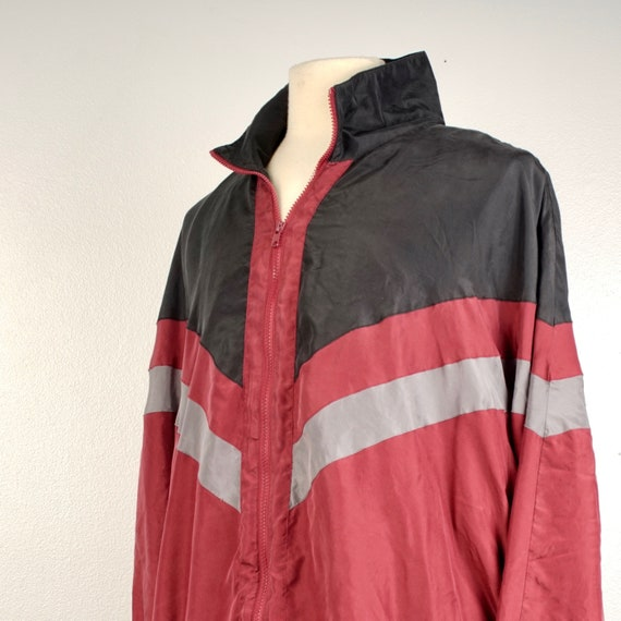 men's 90s vintage silk bomber jacket 2XL Personal… - image 3