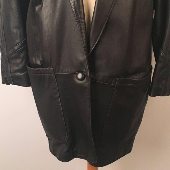 ... sport en manteau cuir noir pour homme manteau en Long en cuir veste  doublée blazer Tibor ... 4bae594d80b