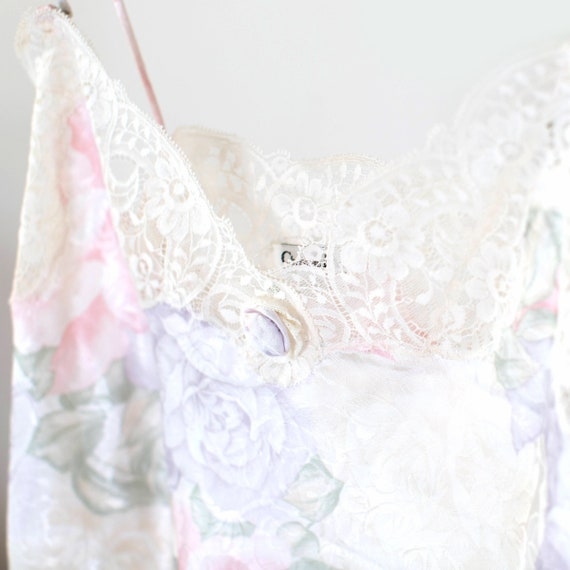 Christian Dior floral lace and satin camisole spa… - image 5