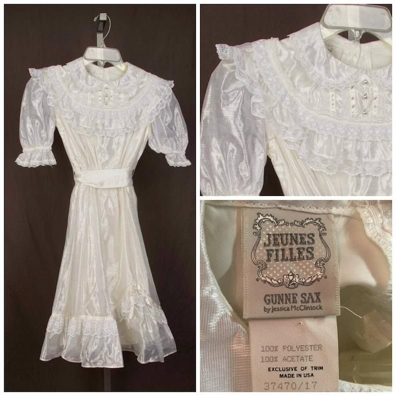 a5a5500e66a Gunne Sax by Jessica McClintock girl s white dress size 12