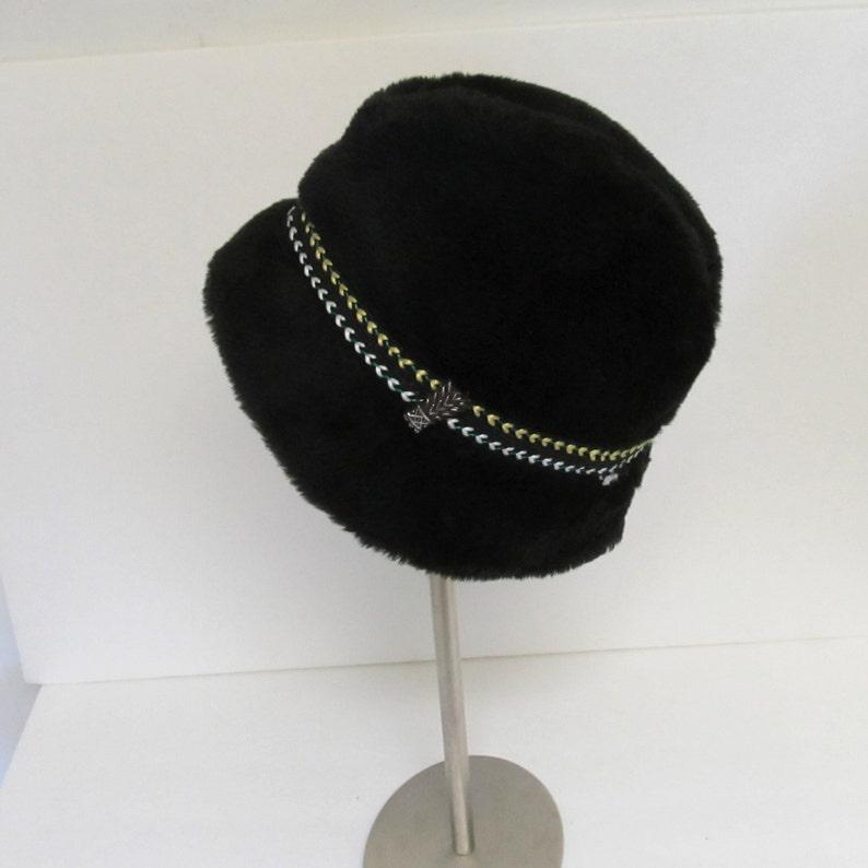 6c88637e51ff89 Brown Faux Fur Vintage Winter Bucket Hat Vegan Fur German | Etsy