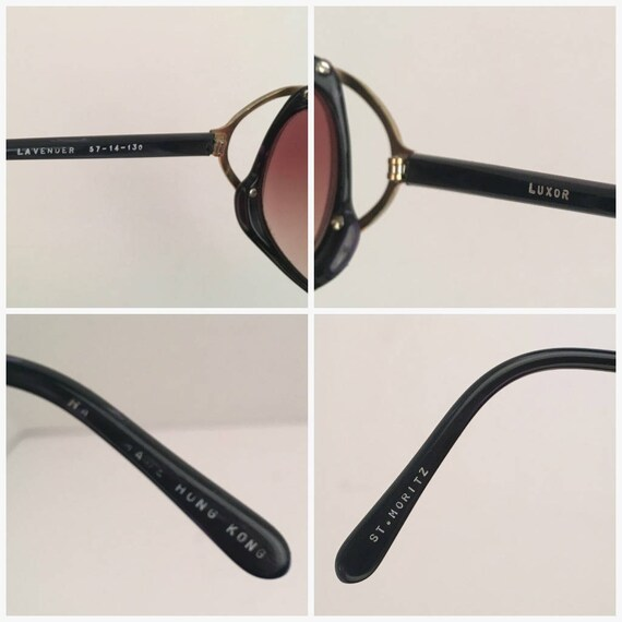 70c63a82ce7 Luxor Purple and Gold Oversized Big Round Sunglasses 57 14 130