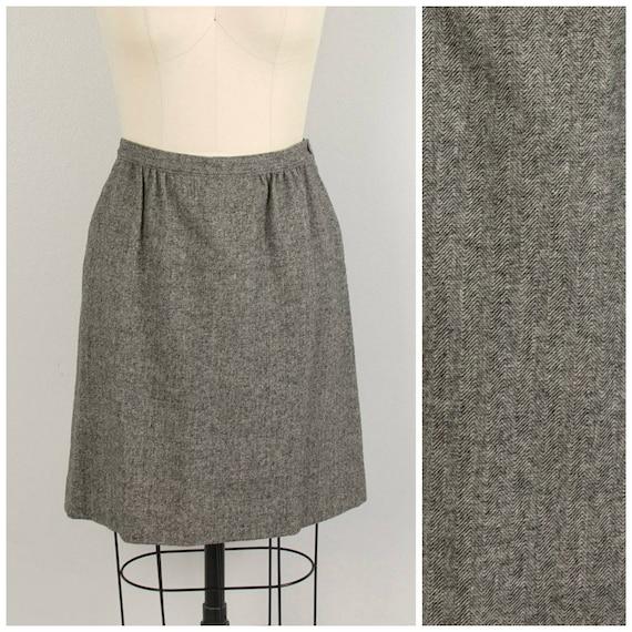 Pendleton Gray Wool Knee Skirt 10