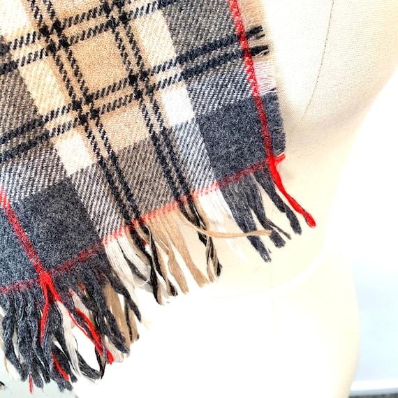 Pendleton wool plaid neck scarf tartan fringed mu… - image 3