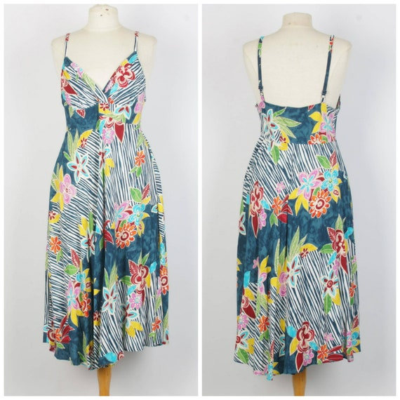 Jam's World floral abstract sun dress colorful spa