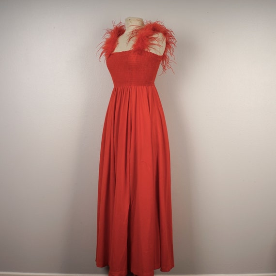 2fff7ac663 red tube top maxi dress small to medium Climax David Howard