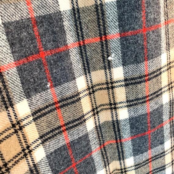 Pendleton wool plaid neck scarf tartan fringed mu… - image 5