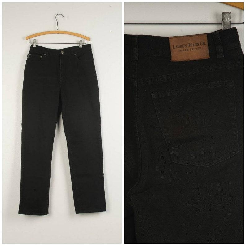 e1682a6b7 29x29 black Ralph Lauren jeans 90s mid rise waist