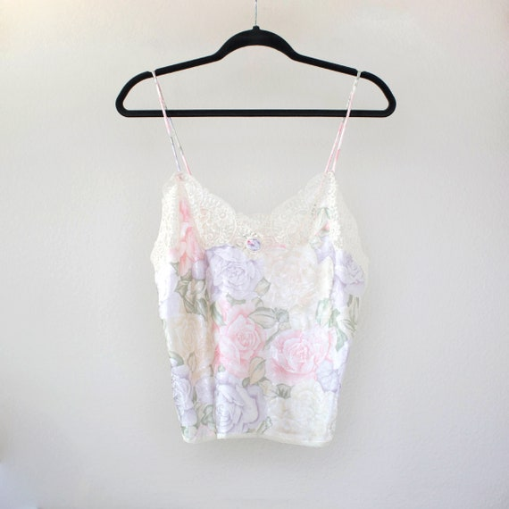 Christian Dior floral lace and satin camisole spa… - image 1