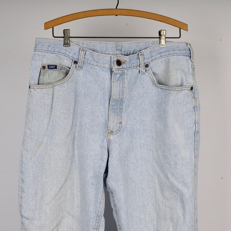 light stone wash Lee Jeans 36x29 American made