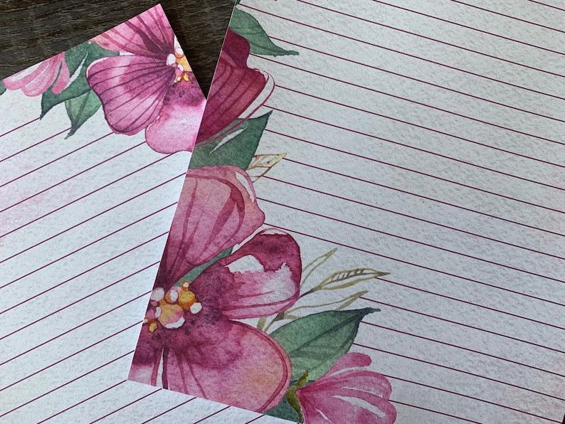 Fleurs Aquarelle Letter writing sheets