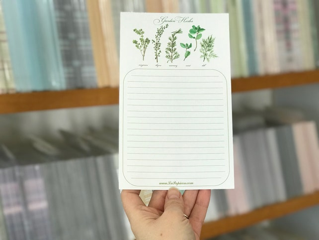Garden Herbs - A5 Stationery - 12, 24 or 48 sheets