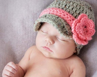 78ad8222 ... authentic baby girl gifts infant girl clothes newsboy hat photo props  toddler hats crochet baby flower