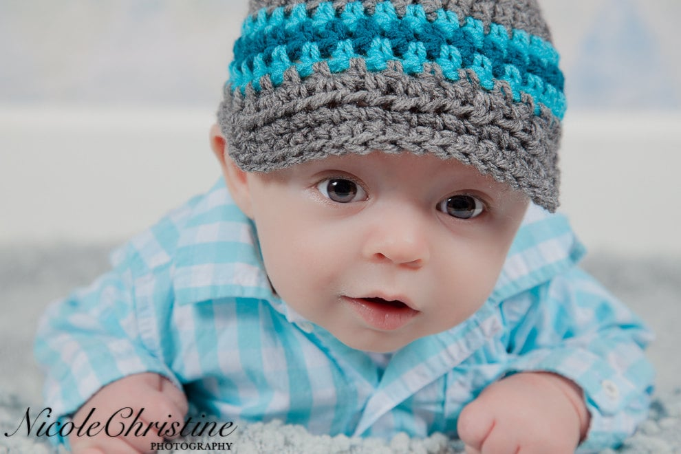 Baby Boy Hat Crochet Hat Newsboy Hat Baby Hat Coming Home  db5ce986ed4