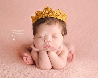 Newborn Prince Crown, Newborn Photo Props, Baby Boy Props, Photo Outfit, First Birthday Crown, First Birthday Hat, Cake Smash Outfit