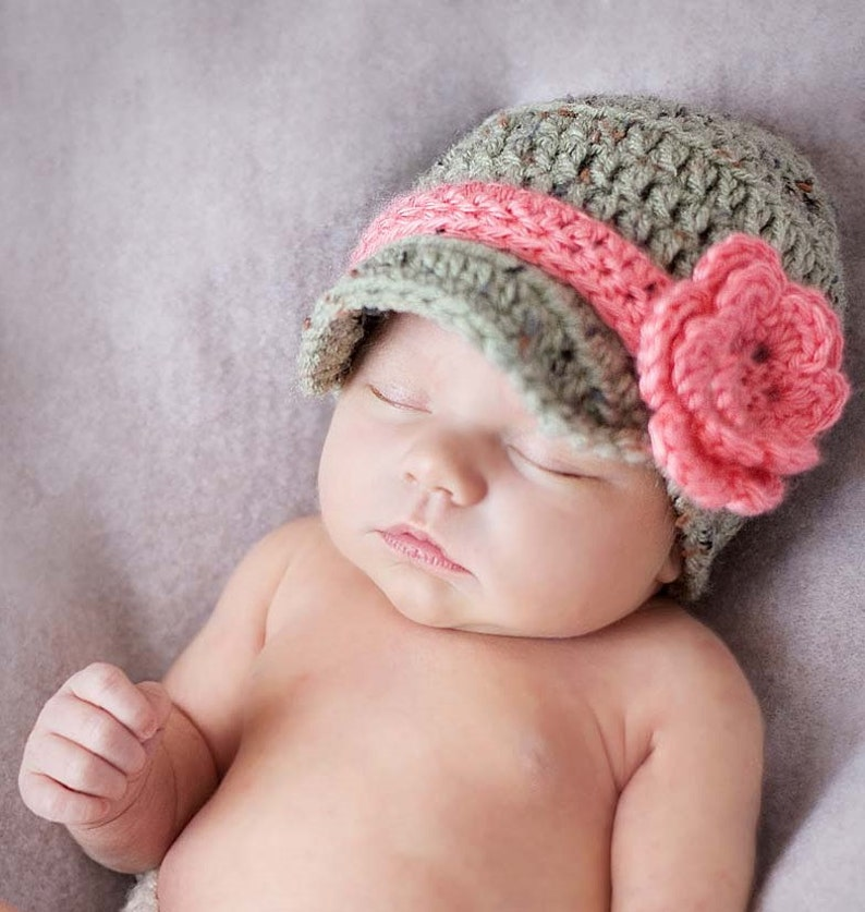 21cde4d4eb6 Crochet Hat PATTERN Crochet Newsboy Hat Tutorial Gender