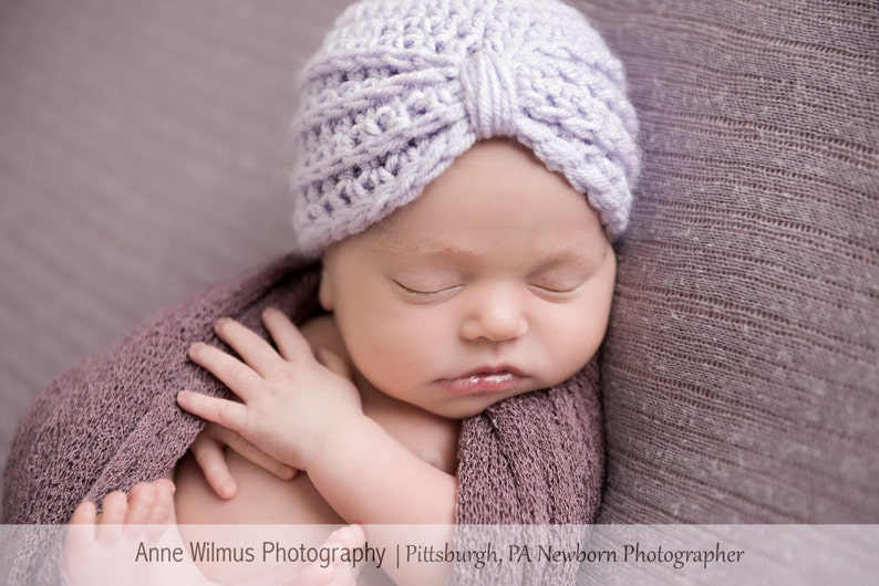 aa32e7f46 Baby Girl Turban Hat Infant Girl Hats Newborn Girl | Etsy