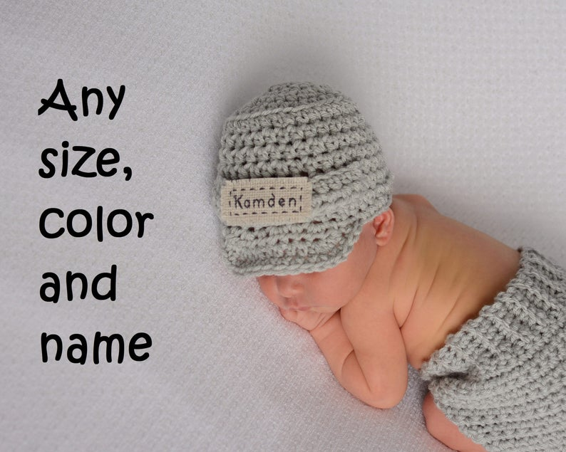 d8fe39c8cf4 Newborn Personalized Name Hat Monogrammed Baby Clothes