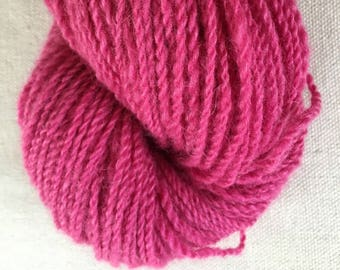 Hot Pink Cochineal Alpaca Merino Yarn