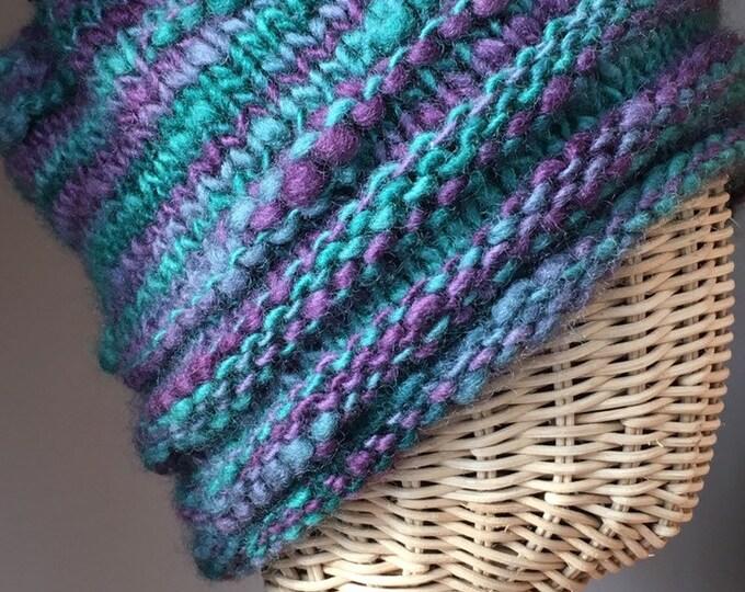 Purple Green Cuff Rimmed Hat