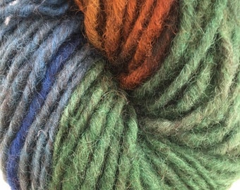 Green Gold Blue Maine Wool Lopi