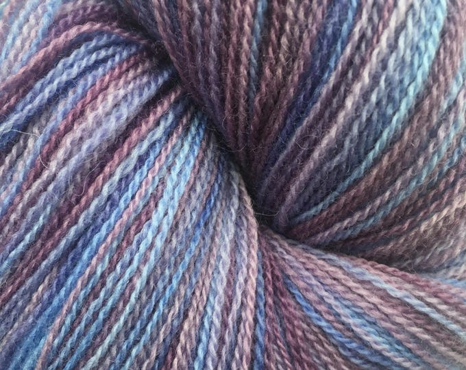 Violet and Blue Variegated Merino Lace Weight Yarn