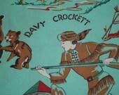 Vintage Davy Crockett Pillowcase Slip