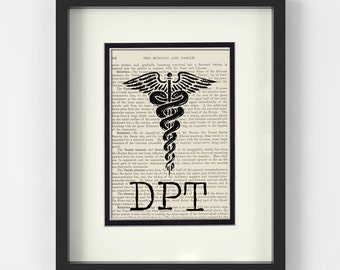 DPT Graduation Gift - Doctor of Physical Therapy Vintage Anatomy Book Page Art Print - Unique Physical Therapist Gift Idea  sc 1 st  Etsy & Dpt graduation gift | Etsy