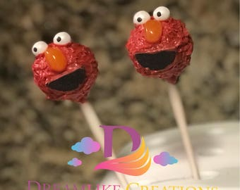Cake Pops: 12 Elmo Inspired Cake Pops Perfect for Baby Shower Favors | Birthday Party Favors
