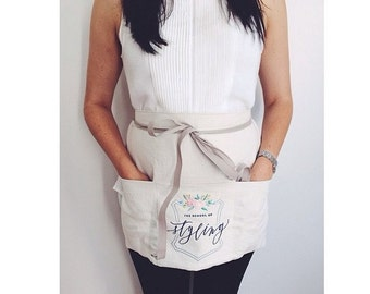 BUY PERSONALIZED HALF APRON FREE EMBROIDERY /& FAST DELIVERY// Best Idea for Thanksgiving dinner