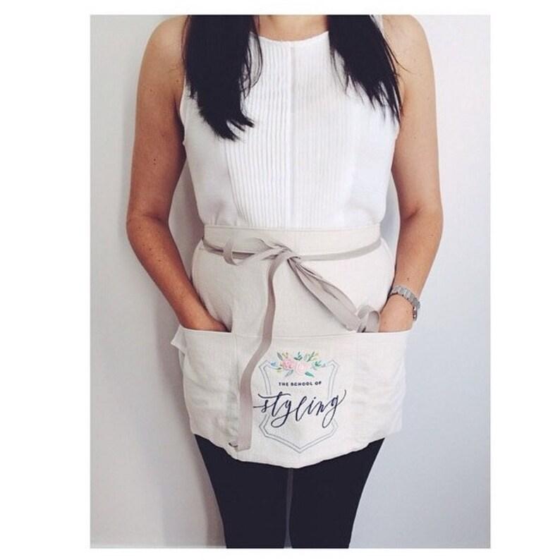 custom half apron : vendor aprons custom embroidery florist image 0