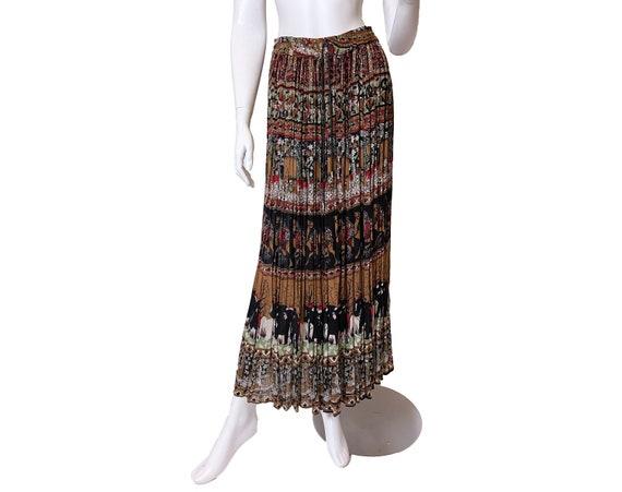 1970s Indian Rayon Skirt