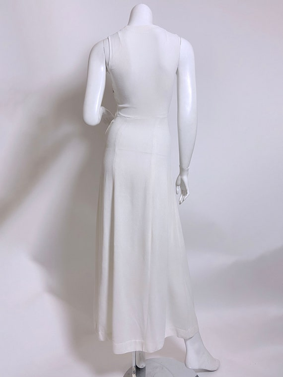 1940s White Rayon Sequin Dress and Jacket Set - image 7