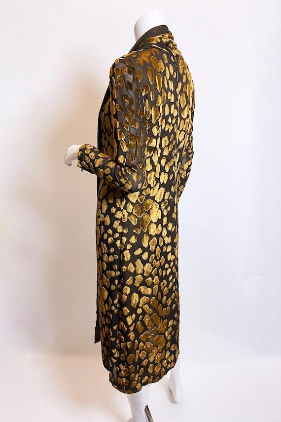 1980s Pauline Trigere Devore Velvet Scarf Dress - image 7