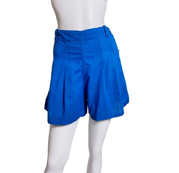 1940s Blue Cotton Pleated  Gym Shorts Chancellor a