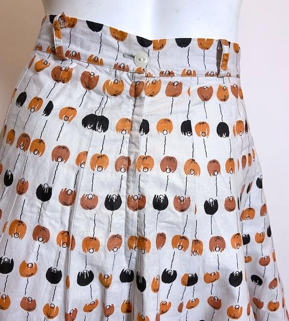 1950s to 1960s Best Mode Tulip Print Skirt - image 5