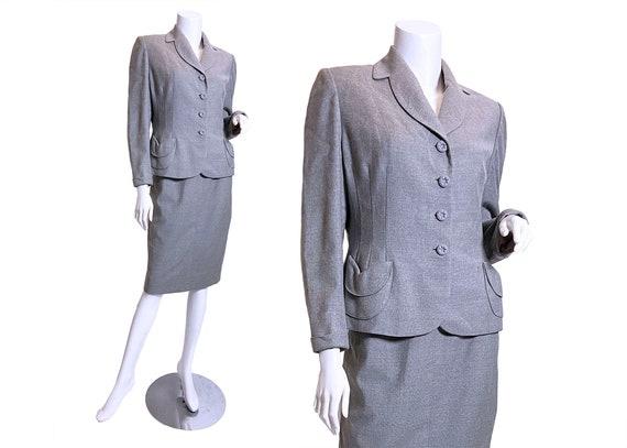 1950s Gray Wool Suit