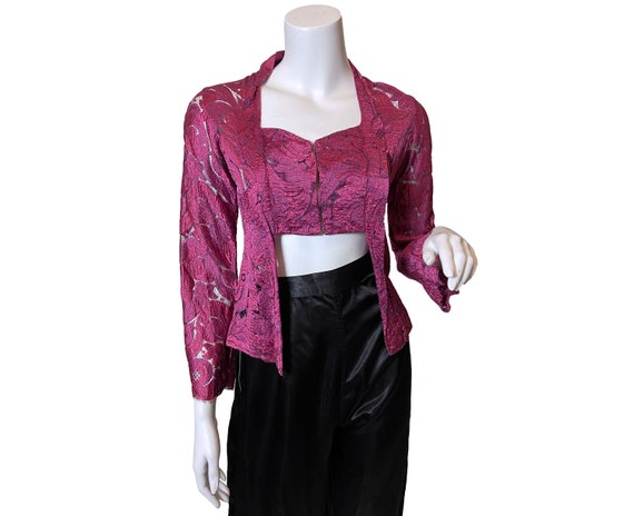 1970s Lace Midriff Top