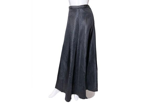 1940s Joan Kenley Moire Taffeta Skirt