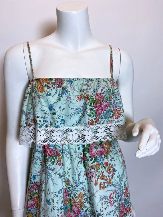 1980s Cotton Floral Print Dress - image 7