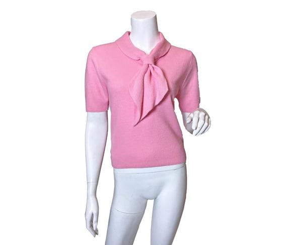 1950s to 1960s Pink Necktie Sweater