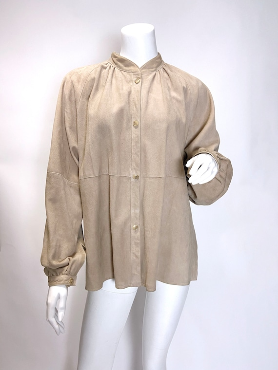 1980s Suede Shirt Jacket - image 4