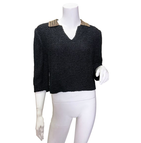 1960s Mimi Pearce Ribbon Knit Top