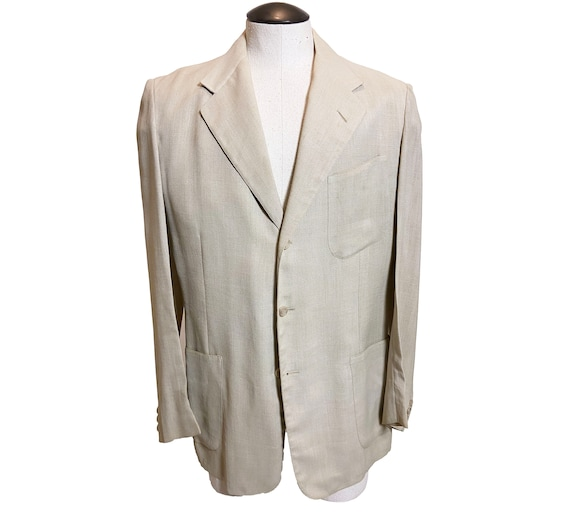 Vintage 1940s Palm Beach Single Breasted Jacket 40