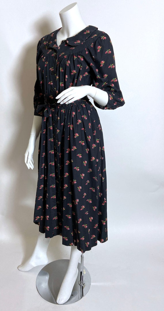 Cotton Ditsy Wrapper House Dress - image 2