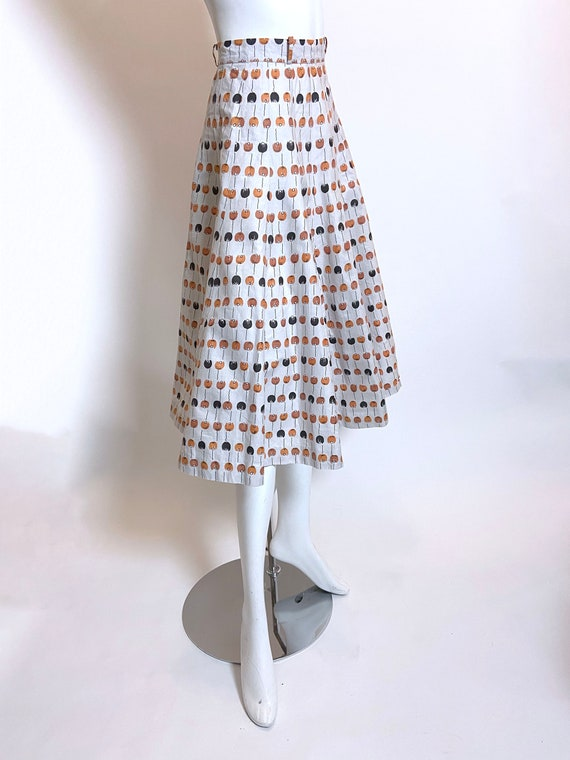 1950s to 1960s Best Mode Tulip Print Skirt - image 4